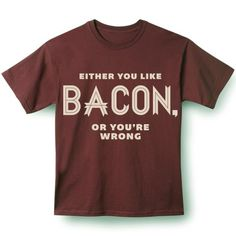 A big selection of bacon themed gifts for bacon lovers.From lip balm to underwear to bacon flavored popcorn, we found it for you Weird Gifts, Crazy Gifts, Flavored Popcorn, Gamer Gifts, Say More, Personalized Gifts, Bacon, Geek Stuff, Mens Tops