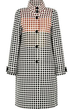 BOTTEGA VENETA  Paneled polka-dot wool coat $11,610