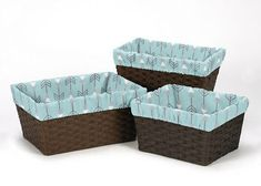Boxes and Storage 117398: Earth Sky Arrow Organizer Storage Kid Basket Liners Fits Small Medium Large Bin -> BUY IT NOW ONLY: $34.99 on eBay!