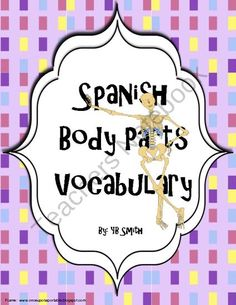 Spanish Body Parts PICTURE Notes SET product from Spanish the easy way! on TeachersNotebook.com