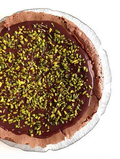 Brownie de Chocolate com cobertura de Chocolate e Pistácios