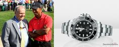 Tiger Woods currently in the lead at the WGC-Cadillac Championship! Looking sharp with his now trademark Rolex DEEPSEA.