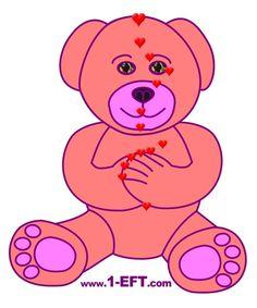 EFT Pink Teddy Bear For Kids Energy EFT Diagram