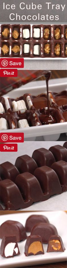 Ice Cube Tray Chocolates - Ingredients  Produce  2 tbsp Peanuts salted roasted  Condiments  2 tbsp Peanut butter chunky  Baking & Spices  6 Caramel chews soft  Oils & Vinegars  2  tbsp Coconut oil  1 Cooking spray  Bread & Baked Goods  1 Pastry brush  Dairy  2  cups Milk  Frozen  1 Ice cube tray  Desserts  2 Marshmallows large
