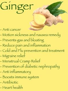 the health benefits of ginger
