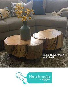 Ellen-style Log Coffee Table - stump table, stump stool, log end table, log table, log stool, rustic decor, rustic home decor, rustic decor from woodZwayz https://www.amazon.com/dp/B01N765AIY/ref=hnd_sw_r_pi_dp_MBfrybHA8KBWS #handmadeatamazon