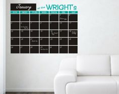 chalkbord template for wall | Popular items for chalkboard calendars on Etsy