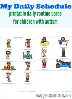Having predictability can go a long way for autistic children. Here are a few reasons why when it comes to the importance of routine for autism. Daily Schedule Printable, Routine Printable, Schedule Cards, Printable Cards, Free Printables, Autistic Children, Children With Autism, Autistic Toddler, Young Children
