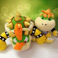 """Find More Movies & TV Information about New 2 Pcs/Set Super Mario Brothers Bowser King Koopa Jr. Plush Toy Stuffed Plush Doll Sanei Approx 7"""" 10"""",High Quality toy story doll,China toy doll stroller Suppliers, Cheap doll girl toy from M&J Toys Global Trading Co.,Ltd on Aliexpress.com"""