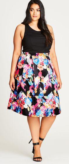 Plus Size Fit & Flare Dress