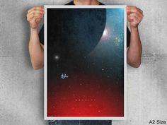Gravity movie postermovie by TotalLost on Etsy, $14.00