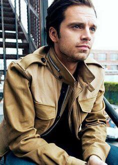 """ Sebastian Stan photographed by William Callan for August Man "" Sebastian Stan, Bucky Barnes, Tom Hiddleston, Fashion Fotografie, Types Of Boyfriends, Lisa, Man Thing Marvel, Dc Movies, Films"