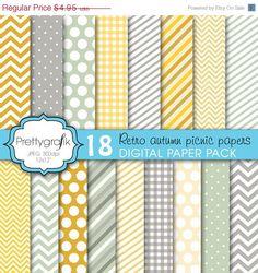 80  OFF SALE hellen Farben digitalem Papier von Prettygrafikdesign, $0.99