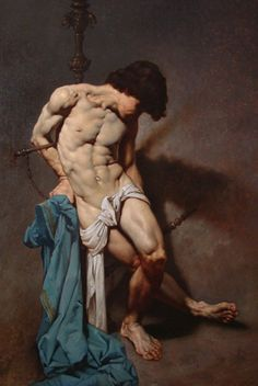 Paintings by Roberto Ferri Roberto Ferri (born is an Italian artist and painter from Taranto, Italy, who is deeply inspired by Baroque painters (Caravaggio in particular) and other old masters. Caravaggio, Italian Painters, Italian Artist, Jean Leon, Art Gallery, St Sebastian, Art Of Man, Male Figure, Gay Art