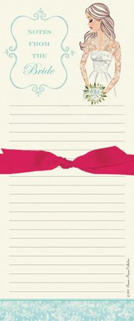 The Royal Note Pad (ROBB).  The perfect magnetic note pad for the bride-to-be!