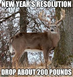 New Year's resolution, drop about 200 pounds