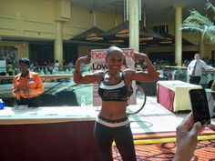 World's oldest competitive female body builder: Ernestine Shepherd, age 74.