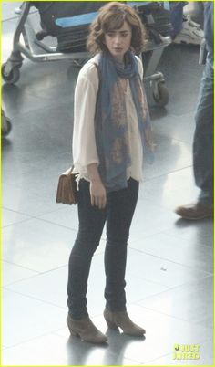 love rosie lily collins  | Lily Collins: 'Love, Rosie' Airport Scene with Jaime Winstone! | Lily ...