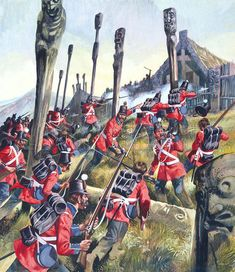 The Maori Wars end with British supremacy – Historical articles and illustrations Military Art, Military History, Military Uniforms, World History, Art History, British Army Uniform, Crimean War, History Images, Military Pictures