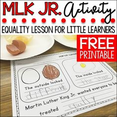 Martin Luther King Kids, Martin Lither King, Mlk Jr Day, King Jr, Equality, Students, Social Studies, Classroom Ideas, Kindergarten Classroom