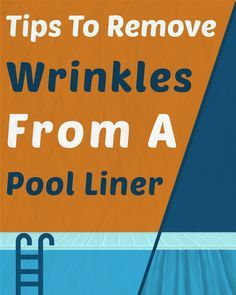 There is nothing quite like the soft and slick feeling of a pool liner on your feet while you swim. However, sometimes those liners can become wrinkled. Swimming Pool House, Swimming Pools, Above Ground Pool Liners, Diy Pool, Pool Backyard, Pool Fun, Swimming Pool Maintenance, Pool Care, Pools