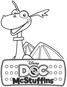 Doc McStuffins Stuffy The Dragon Coloring Page | Free Printable ...