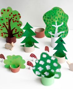DIY Cardboard Woods via Ukkonooa