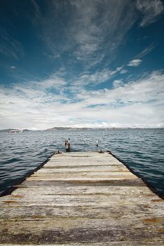 Lago Titicaca, Bolivia  Just like the dock we jumped off of every day in Paros, Greece.