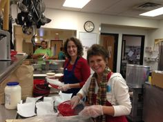 Barb and Sue volunteering at Ministry with Community.
