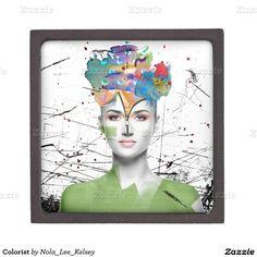 'Colorist' Trinket Boxes via Zazzle with art by Nola Lee Kelsey