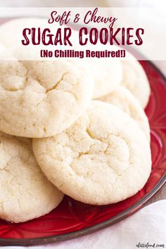 CHEWY SUGAR COOKIES RECIPES These soft and chewy sugar cookies are a Christmas cookie staple! This no-chill dough sugar cookie recipe is full of simple ingredients and comes together quickly! => Click image or visit button for Complete Cooking Preparation Chewy Sugar Cookie Recipe, Homemade Sugar Cookies, Cookie Dough Recipes, Soft Sugar Cookies, Sugar Cookie Dough, Easy Cookie Recipes, Sugar Cookie Recipe No Baking Powder, No Butter Cookies, Quick Cookies