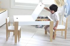 Modern Kids Table Set Makeover – No Power Tools Required Kids desk with storage Related posts: Easy DIY Kids Table and Chair set with Free Plans Simple Kid's Table and Chair Set Ikea Kids' Table and Chairs Makeover How to Make a DIY Farmhouse Kid's Table Kids Table With Storage, Kids Table And Chairs, Kid Table, Kids Storage, Wooden Kids Table, Dining Chair, Kids Art Table, Baby Storage, Extra Storage