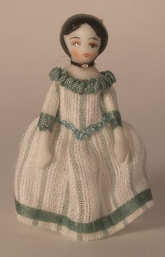 Amelia Green by Ethel Hicks - $42.00 : Swan House Miniatures, Artisan Miniatures for Dollhouses and Roomboxes
