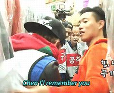 Lol Chen on running man (gif)