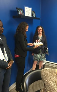 It's been a great week of celebrations for our Morgan!  Monday the team celebrated her promotion to the leadership team. (Way to go!)  Today we're celebrating her birthday.  Happy Birthday Morgan!  We're wishing you many more years of success and happiness!