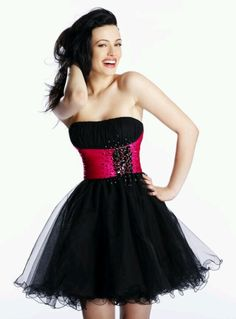 Short Strapless Sweetheart A-Line Tulle Dress | Shop!, Prom ...