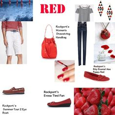 Spring into action in with red- the color of passion and warmth. You will not be overlooked in the crowd with our Etty Enamel Moc in Poppy Red. @Rokport #walkability