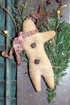 Primitive Gingerbread On Vintage Grater by stitchintimepatterns, $21.95