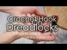3 STEPS TO PERFECT DREADLOCKS! - 'Using a crochet hook' tutorial - YouTube
