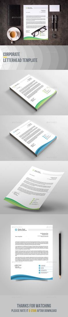 Letterhead Template Letterhead template, Stationery printing and - corporate letterhead template