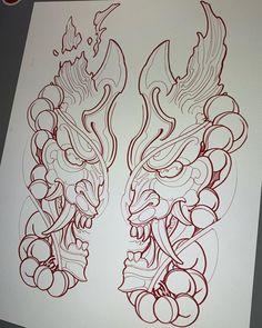 Japanese Tattoo Art, Japanese Tattoo Designs, Japanese Sleeve Tattoos, Japanese Art, Asian Tattoos, Leg Tattoos, Body Art Tattoos, Tattoo Design Drawings, Tattoo Sketches