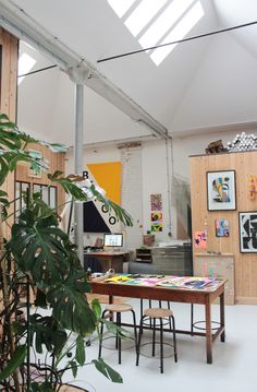 's workingplace Interior Exterior, Interior Architecture, Interior Design, Bingo, Home Office, Studio Organization, Home Studio, Studio Spaces, House Goals