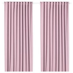 MAJGULL Room darkening curtains, 1 pair, light pink, Room darkening curtains prevent most light from entering and provide privacy both day and night by blocking the view into the room from outside. Block Out Curtains, Thick Curtains, Curtains With Blinds, Sheer Curtains, Panel Curtains, Velvet Curtains, Curtain Rod Holders, Curtain Rods, Curtains Living