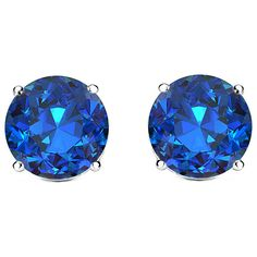 2.00 CTTW Genuine Gemstone Stud Earrings: Round-Sapphire ($7.99) ❤ liked on Polyvore featuring jewelry, earrings, blue, jewelry & watches, gemstone stud earring sets, gem earrings, sapphire stud earrings, sapphire jewelry and blue gemstone jewelry