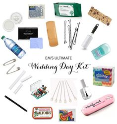 Bridesmaid must have wedding day  saving kit