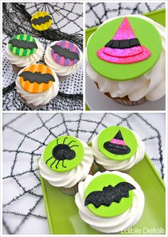 30 large 2 inch pre cut edible halloween cupcake toppers premium thick wafer halloween cupcake toppers pinterest inches halloween and halloween