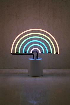 Shop Sunnylife Rainbow Neon Sign Table Lamp at Urban Outfitters today. Neon Rainbow, Rainbow Light, Rainbow Things, Rainbow Stuff, Rainbow Aesthetic, Sunnylife, Cool House Designs, Neon Lighting, Aesthetic Wallpapers