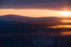 These photographs were taken in Saariselkä, Lapland, Finland between the and the of January. It is officially Kaamos (Polar Night) until March. Polar Night, Finland, Sunrise, Behance, Lost, Outdoor, Outdoors, Outdoor Games, The Great Outdoors