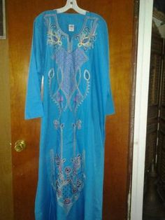 Abaya 100%cotton very soft fabric comfortable free ship for $34.99 size xlarge