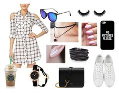"""""""Shirtdress & Sneaker"""" by vicran10 ❤ liked on Polyvore featuring Material Girl, Yves Saint Laurent, Casetify, Mulberry, Otis Jaxon, Cartier, Sif Jakobs Jewellery, Gucci and shirtdress"""